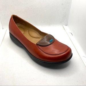 Dansko Size 36 Orange Leather Loafer Slip …